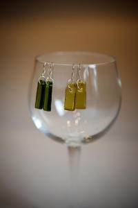 Rectangle earrings Yount Street Glass